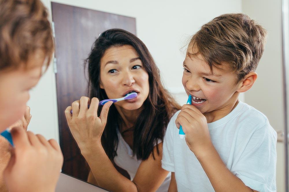 Encourage your child to brush
